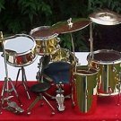 5 piece mini drum set in Gold! A drummers dream toy