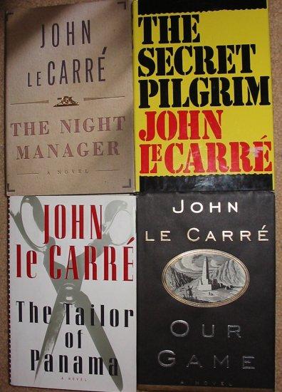 4 FIRST EDITION JOHN LECARRE BOOKS HC - OUR GAME THE SECRET PILGRIM TAILOR PANAMA NIGHT MGR