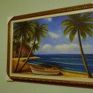 "24x36 "" Palms Near the Ocean Oil Painting on Canvas"