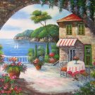 """36x48"""" Mediterranean Scenery Oil Painting on Canvas"""