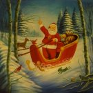 """New Hand-Made 20x24"""" 'Santa Claus' Oil Painting on Canvas"""