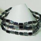 black and silver stretch bracelet