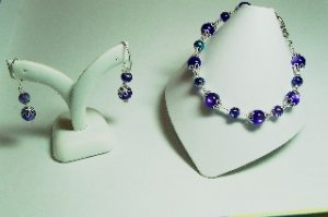 purple and silver set