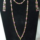 pink and gold chain set