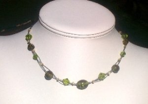 Kiwi Twisted Strands Necklace