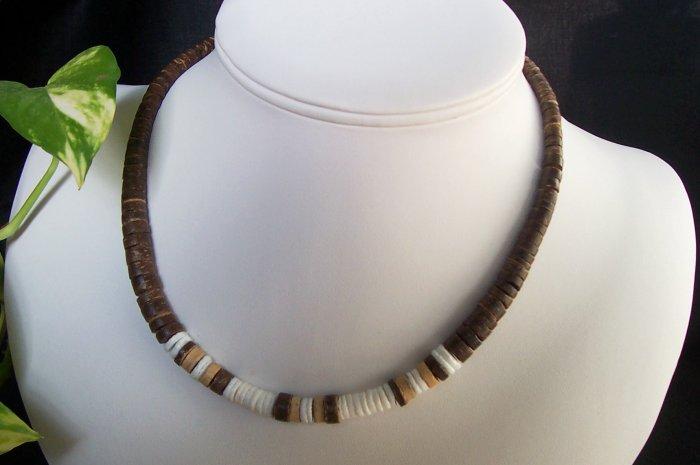 Dark Brown Puka Shell Necklace