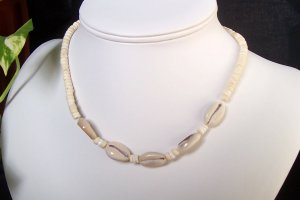 Natural Puka and Cowrie Shell Necklace