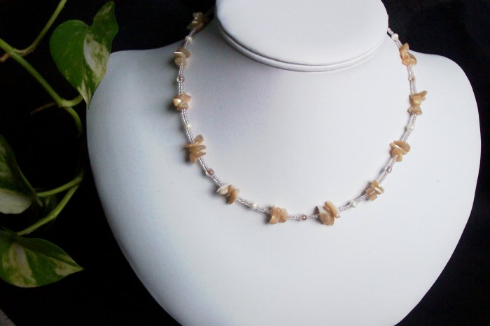 Nautural Shell and Seed Bead Necklace