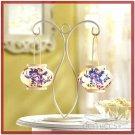 ELEGANT BOTANICAL DELFT STYLE BLUE & WHITE CANDLE LAMP