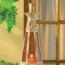 Beautiful Amber Teardrop Hanging Candle Lantern