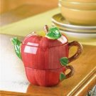 NEW APPLE TEA-FOR-ONE POT CHIC
