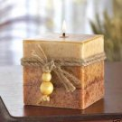 RUSTIC WOOD CUBE CANDLE SCENTED CANDLES