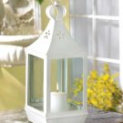 LARGE WHITE CUTWORK GARDEN LANTERN