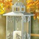 Silver Scrollwork Candle Lantern