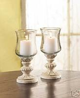 Gold Edged Hurricane Lamps