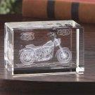 Hot Rod Road Bike Glass Cube