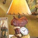 Cowboy Table Clock Lamp
