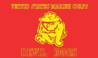 Marine Devil Dogs Flag