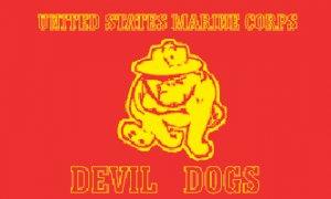 Marine Devil Dogs Flag
