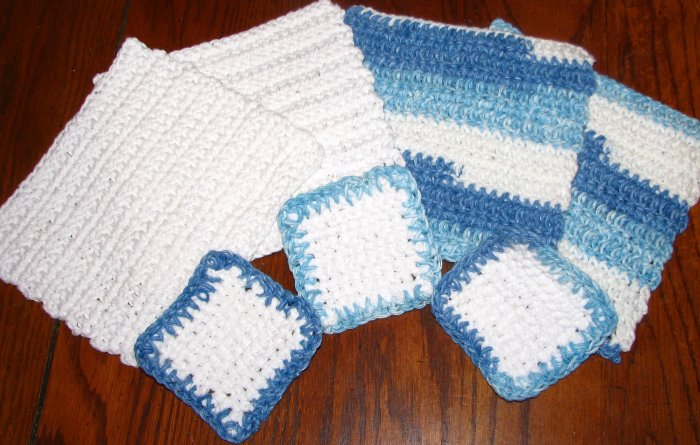 Cotton Dish/Wash Cloths and Facial scrubbies Set