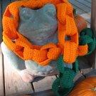 Pumpkin Chain Link Scarf