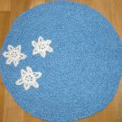 Winter Snowflake Perfectly Imperfect Upcycled Rug