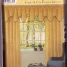 Simplicity Sewing Pattern 7885 Window Treatments Panels Valance Design Dated 1999