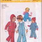 Simplicity Sewing Pattern 6636 Toddlers Girl Boy Bell-Bottom Overalls w/ Hooded Hoodie Jacket