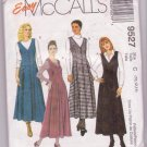 McCall's Sewing Pattern 9527 Misses Jumpers Sizes 10 12 14 Dated 1998