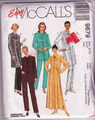 Easy McCall�s 1998 Misses Asian-Type Robe / Top Pull-on Pants 1998 Pajamas Misses Sizes 8 to 10