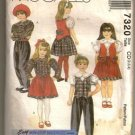 McCall's 1994 Sewing Pattern 7320 Children's Girls Pants Skirt Blouse Lined Vest Sizes 2-4 Uncut