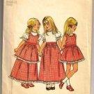Simplicity Vintage Childs Dress & Pinafore 5383 Pattern Vintage 1972 Girl's Size 2