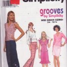 Simplicity Grooves 7185 Sewing Pattern Juniors Skirt Tops Pants Sizes 11/12-15/16