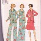 Simplicity Pattern 6854 Vintage 1974 Woman's Pants Skirt Top Sizes 18&20