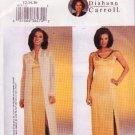 Butterick 3835 Pattern 2003 Designer Diahann Carroll Evening Dress Gown Coat  Misses Size 12-16