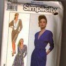 Simplicity Pattern 8736 Misses Elegant V-Neck Dress 1988 Sizes N (10-12-14)