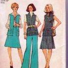 Simplicity Pattern 6105 Vintage Retro 1973 Uncut Vest Skirt Pants Outfit Size Misses & Petites 16