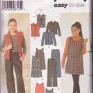 Simplicity Pattern 4839 Girls School Separates or Play Wardrobe Ensemble Sizes 7-16