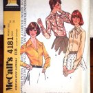 Vintage 1974 McCall's Pattern Mad Men Style Misses set of Blouses 4181 Size 14