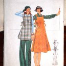 Vintage Butterick Pattern 4923 Maternity Jumper Dress Pattern Top Pants © 1970's Size 14