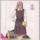 Butterick Vintage Sewing Pattern 3402 Girls School Jumper Blouse Sizes 7 to 10 Dated 1985 JJ Hook