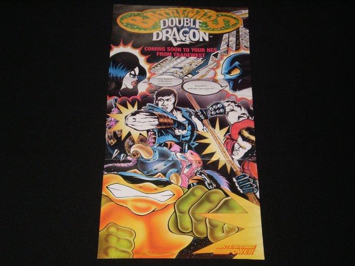 Battletoads & Double Dragon Poster (Nintendo Power)