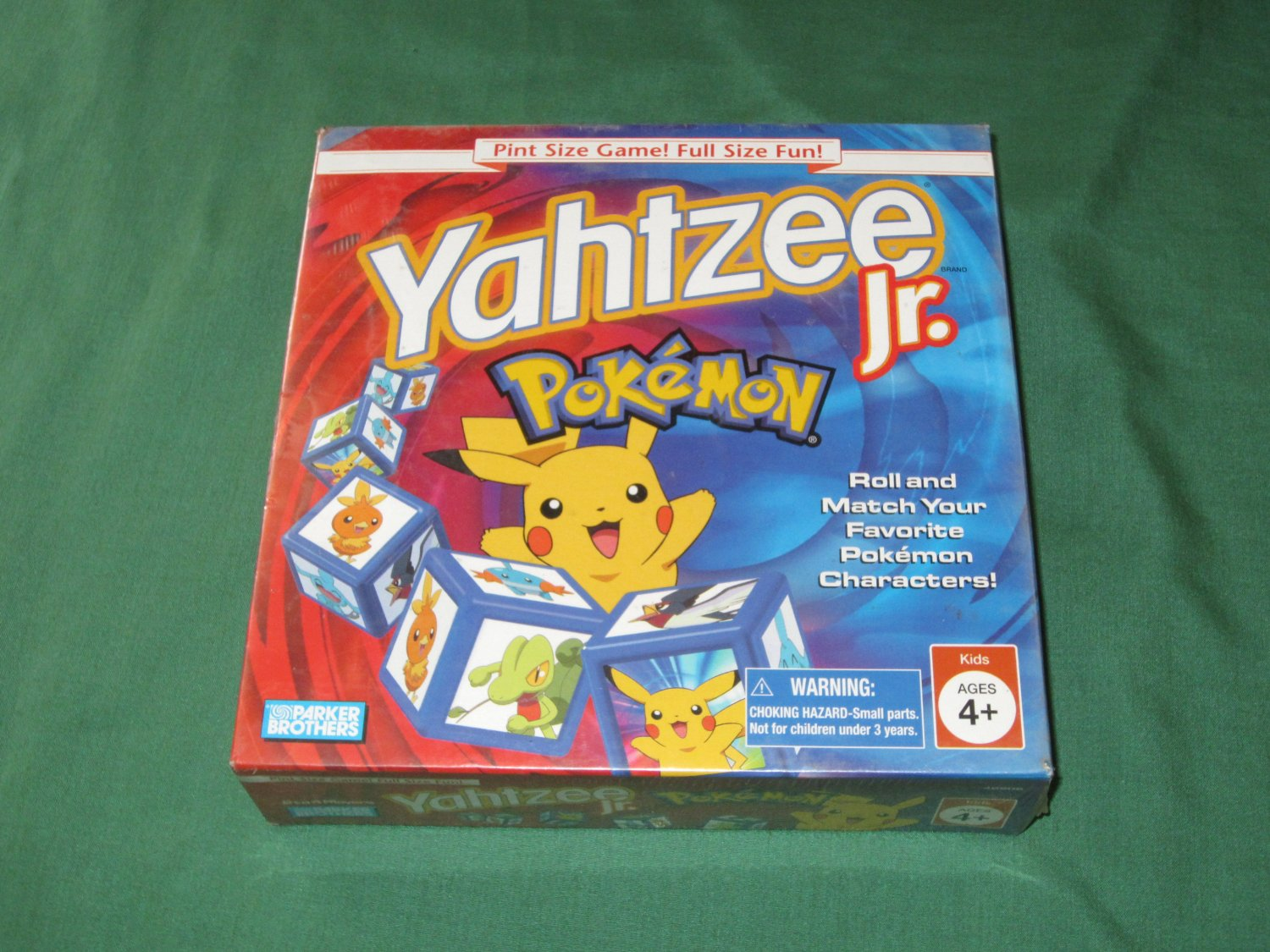 Yahtzee Jr. Pokemon Edition