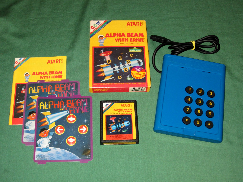 Alpha Beam with Ernie + Kids Controller (Atari 2600)
