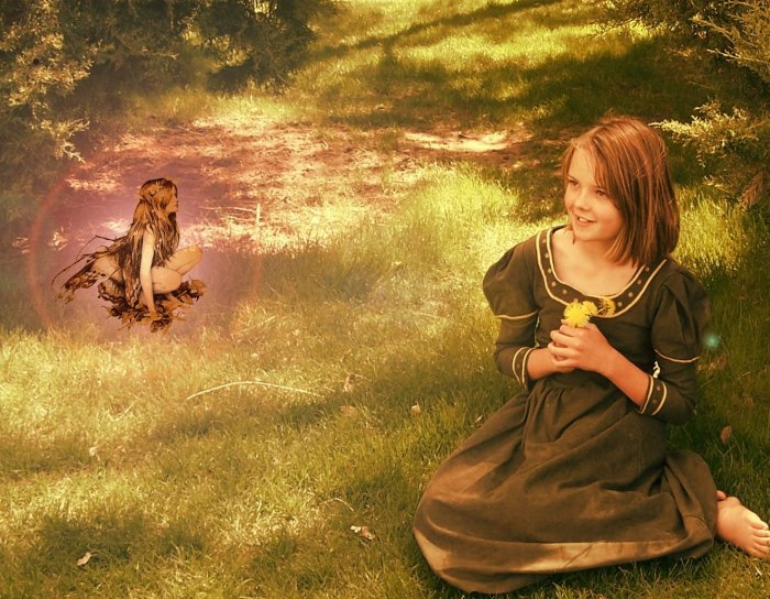 The Maiden and the Fairy Artprint