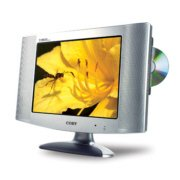 Coby TF-DVD1770 17 Inch LCD TV/Monitor with Side Loading DVD Player