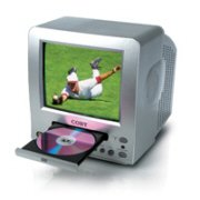 """Coby 10"""" COLOR TV W/ DVD PLAYER"""
