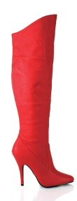 "Seduce"" - Women's Leather Knee High Fold Over Spike Heel Boots"