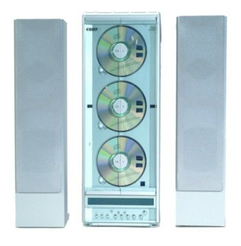 COBY 3 CD Vertical CD Player with Digital AM/FM Tuner