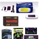 Sony PSP Giga Pack (Ceramic White) plus 21 Games and PSP Car Kit + 2GB memory card